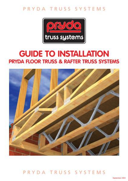 pryda floor truss installation guide