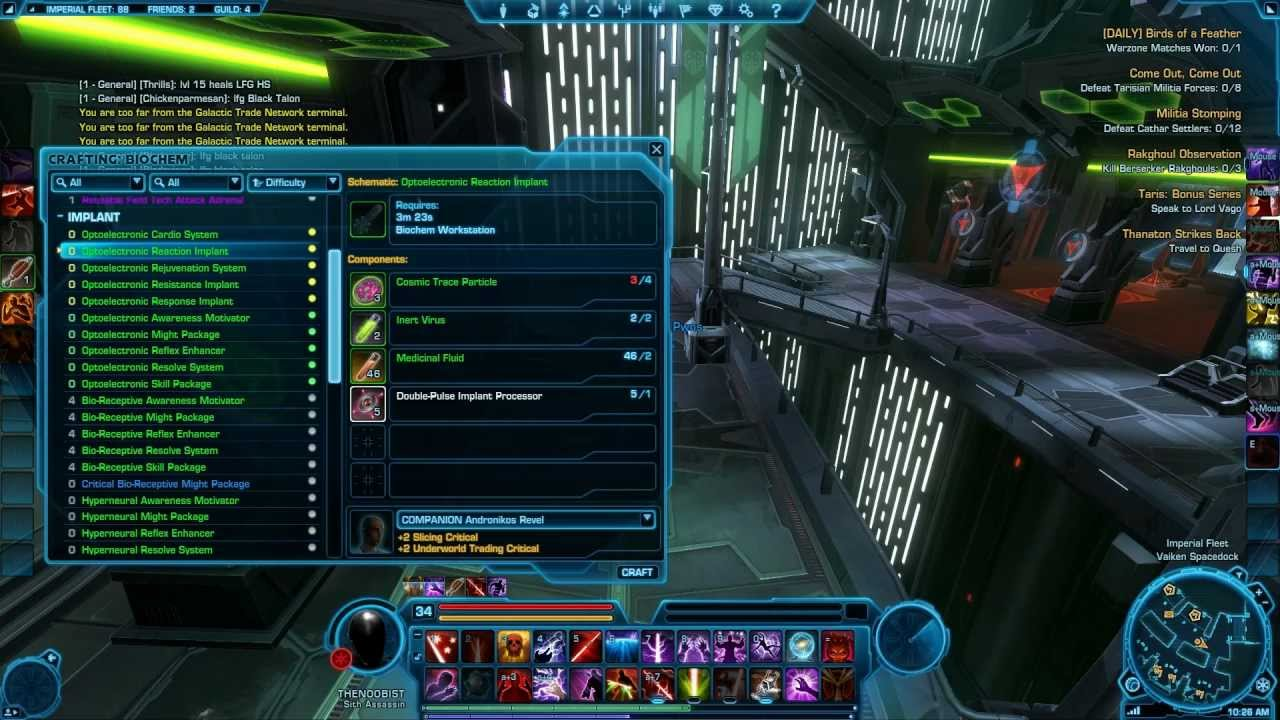 swtor crew skills leveling guide