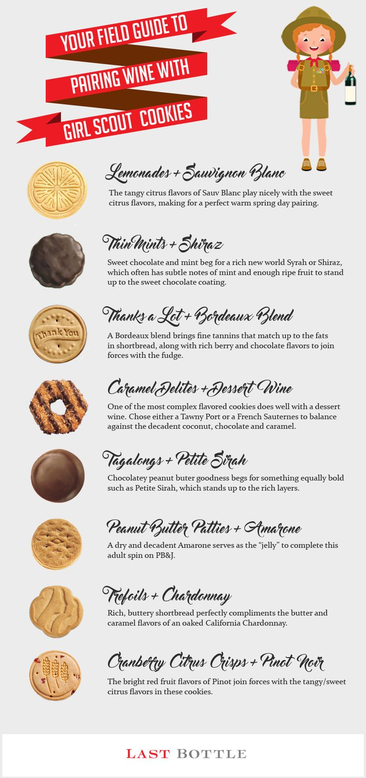 types of girl guide cookies