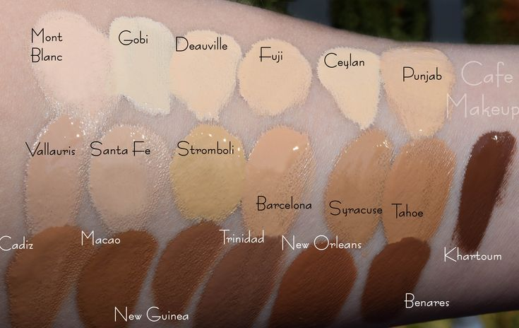 nars sheer glow foundation colour guide